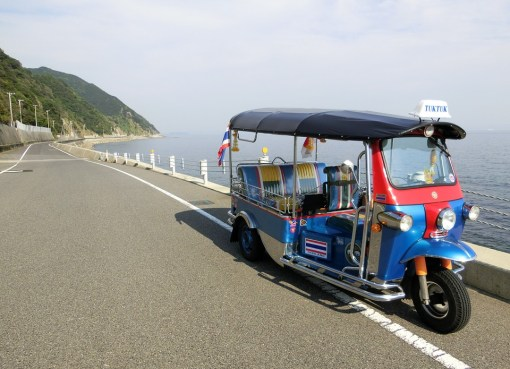 Tuk Tuk on a front beach road