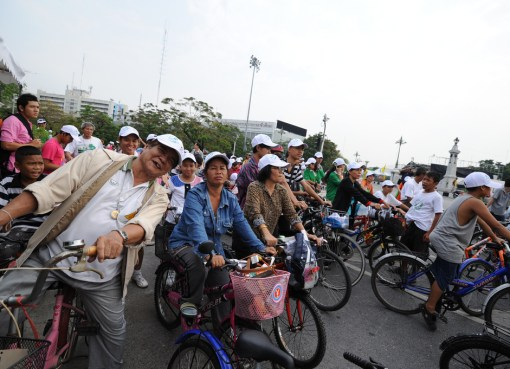 Members of Thailand Cycling Club gathering in Bangkok
