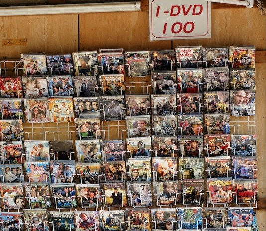 A store selling pirated movies in Koh Lanta