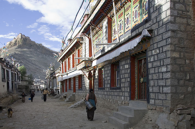 Gyantse Old Town. Gyantse is the fourth largest city in Tibet
