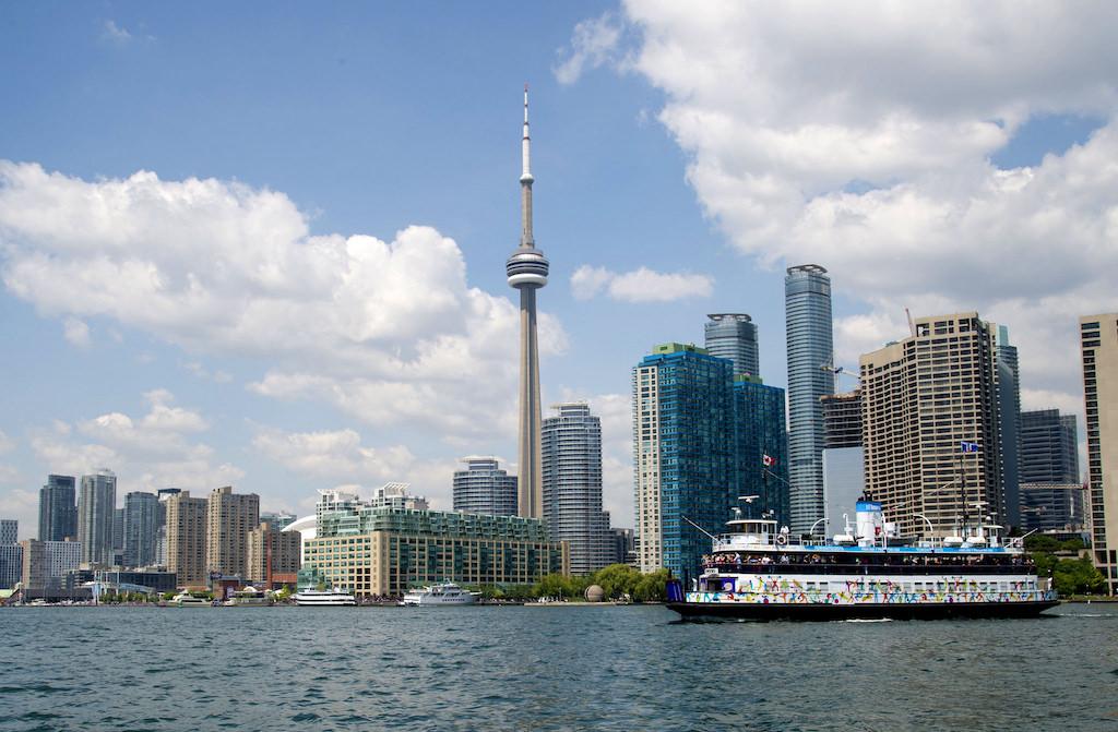 A ferry in Toronto, Canada