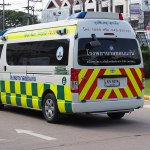 Toyota Commuter 3.0 Khon Kaen Hospital Ambulance in Khon Kaen Vocational College