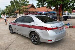 Toyota police car in Lampang