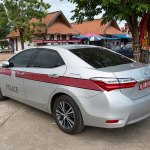 Toyota police car in Lampang