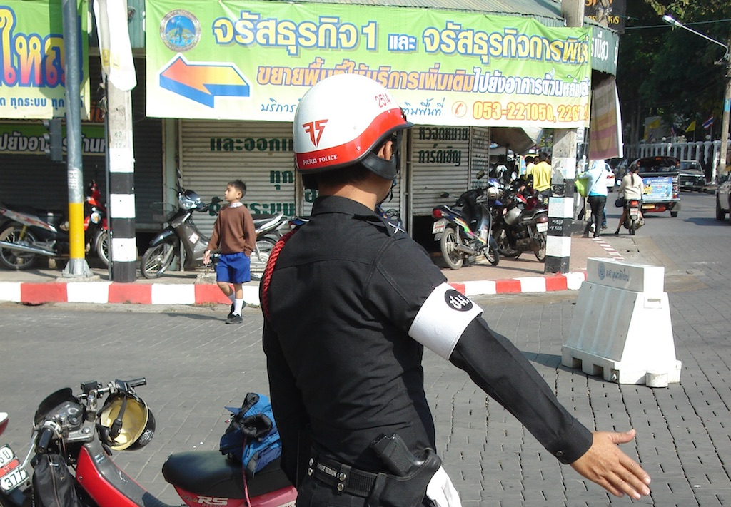 Traffic police in Chiang Mai