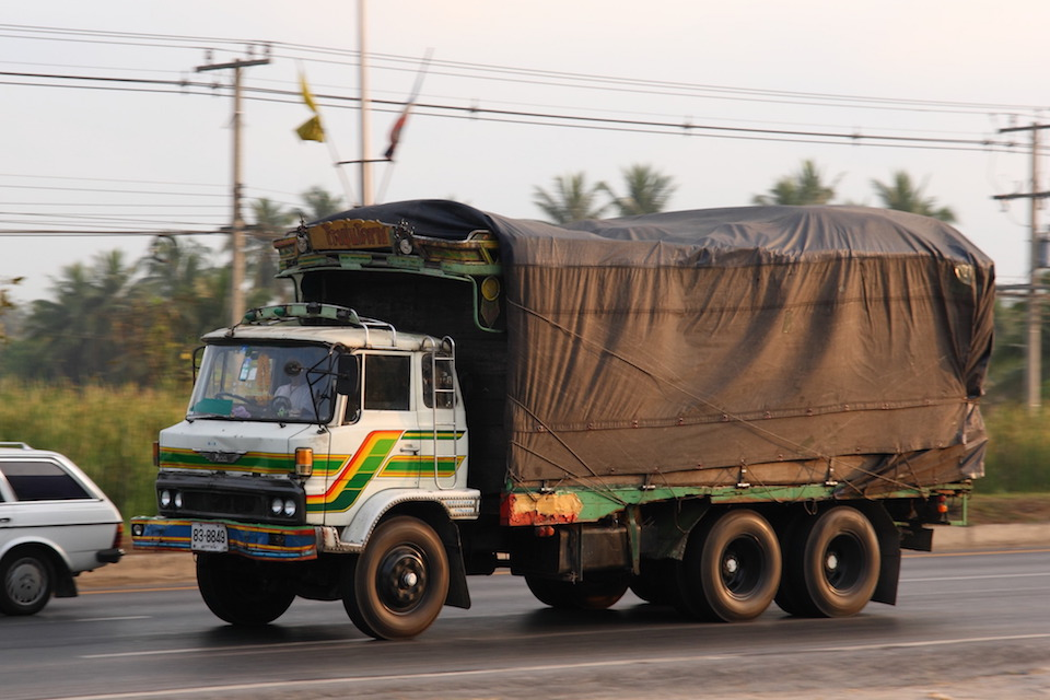 Old Hino truck in Thailand