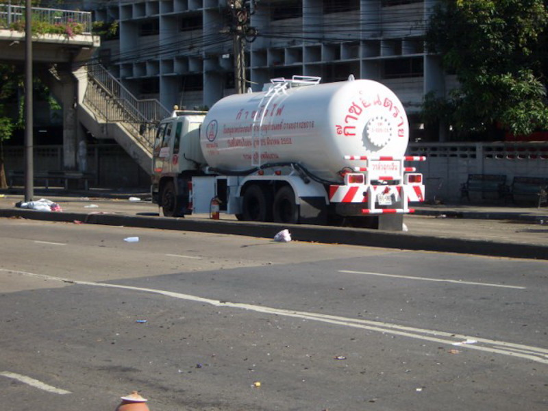 Liquid gas tanker in Bangkok