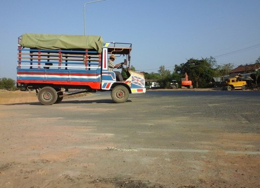 A truck in Surin province