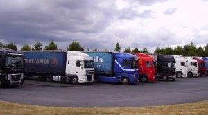 Trucks in France near Limoges