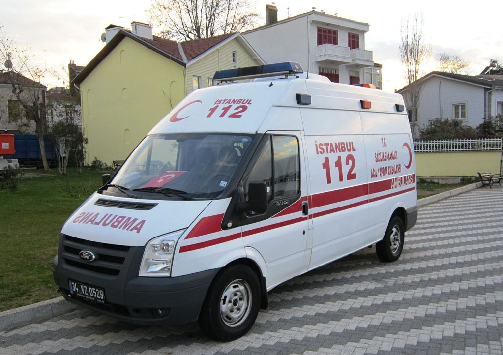 Ambulance in Istanbul, Turkey