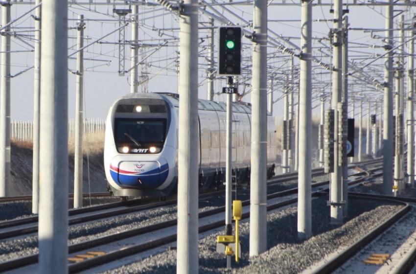 High-speed train in Turkey