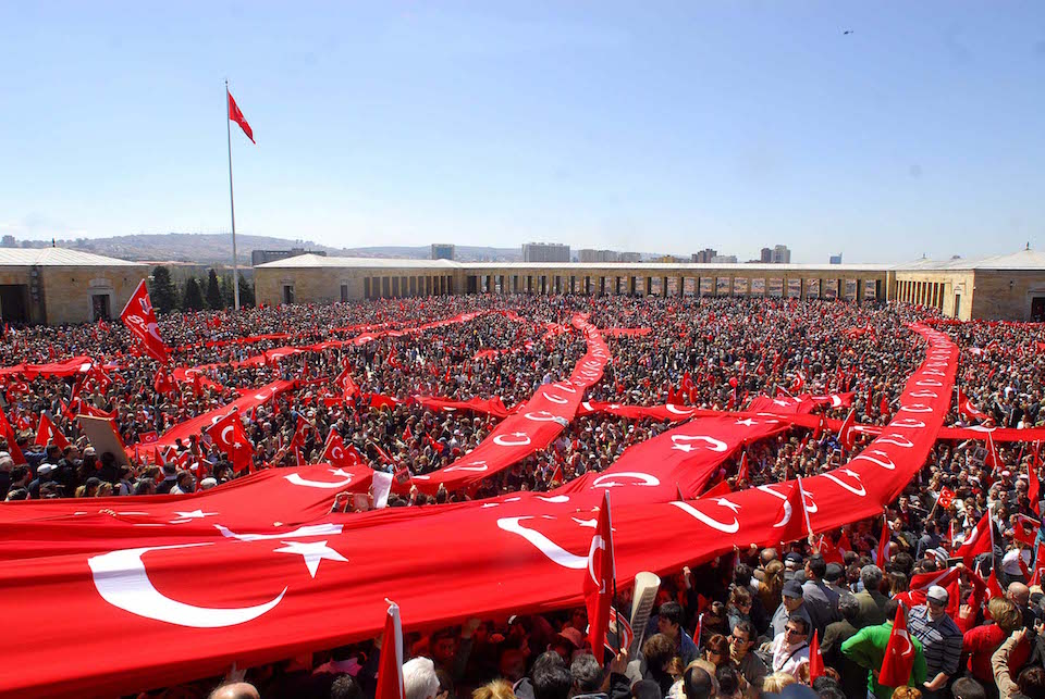 Thousands Participate in First Anniversary of Attempted Coup in Turkey 2