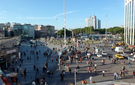 Taksim Square in Istanbul, Turkey