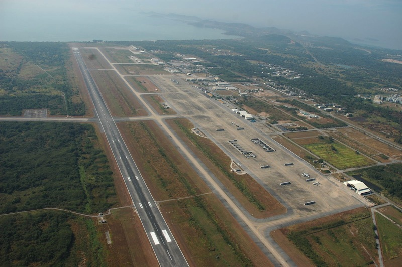 Aerial view of U-Tapao International Airport