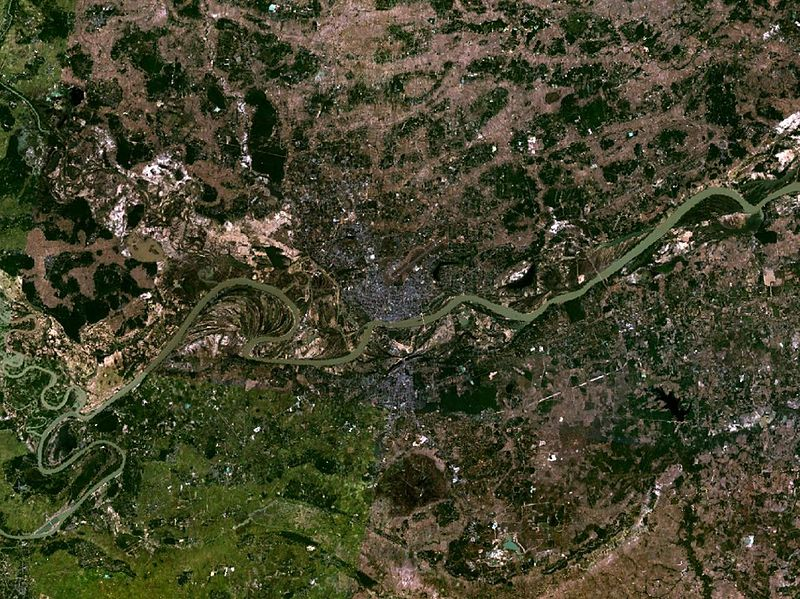 Satellite view of Ubon Ratchathani