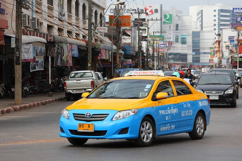 Toyota taxi-meter in Udon Thani, Thailand