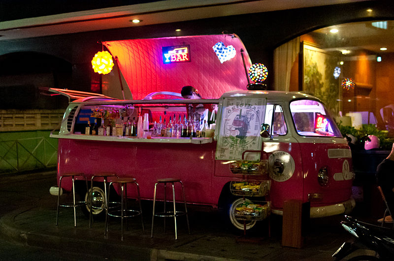 Volkswagen minivan bar in Bangkok