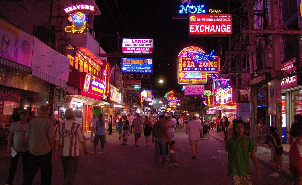The popular Walking Street in Pattaya