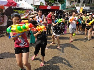Water-fight in Chiang Mai during Songkran (Thai New Year)