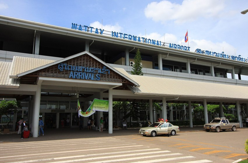 Arrivals terminal at Wattay Airport in Vientiane, Laos