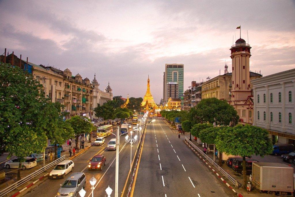 Yangon, the former capital of Myanmar