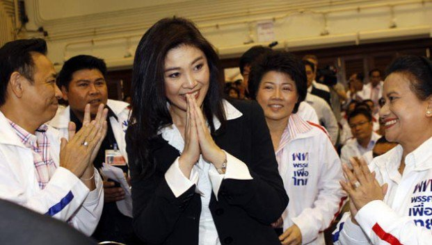 Yingluck Shinawatra during the election campaign