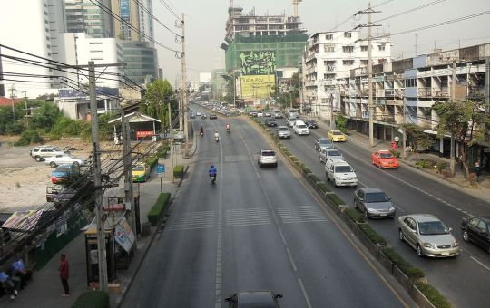 Street in Bang Kapi district, Bangkok