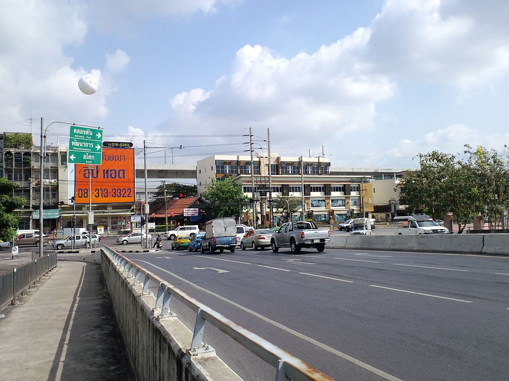 Road in Bang Kapi, Huai Khwang, Bangkok