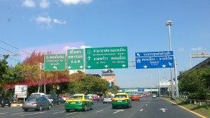Road in Din Daeng, Bangkok