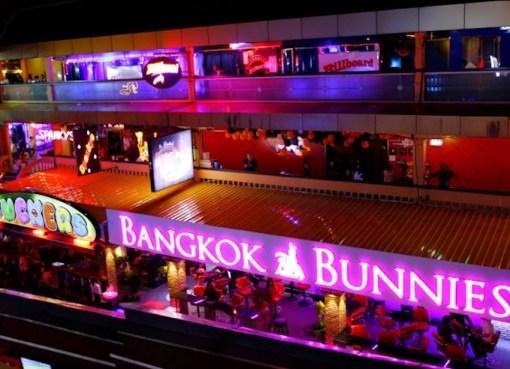 View of Nana Plaza in Bangkok on November 2015