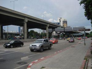 Vibhavadi Rangsit Road and Don Mueang Tollway in Bangkok