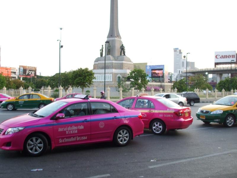 Taxis at Victory Monument, Bangkok