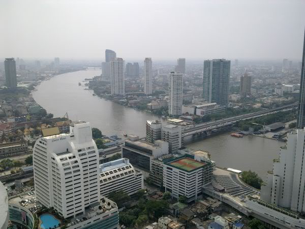 Chao Phraya River viewed from lebua at State Tower,
