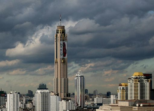 View of the Baiyoke Tower II in Bangkok