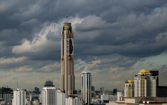 View of the Baiyoke Tower II in Bangkok