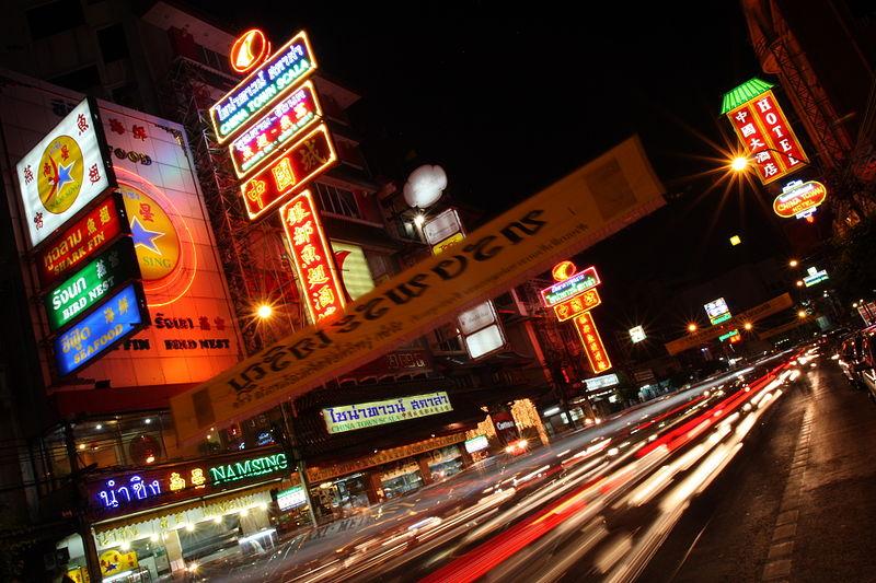 Thanon Yaowarat (Chinatown) in Bangkok