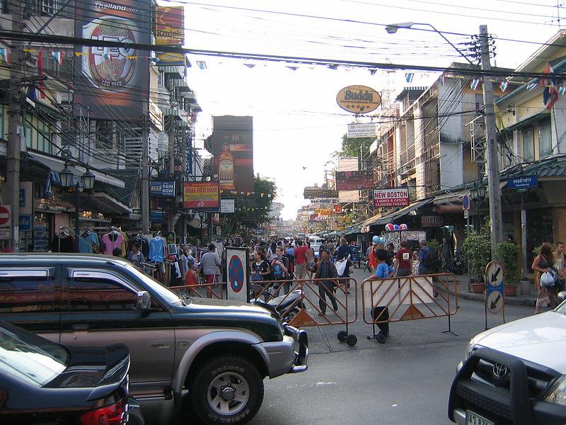 Khaosan Road in Bangkok, Thailand