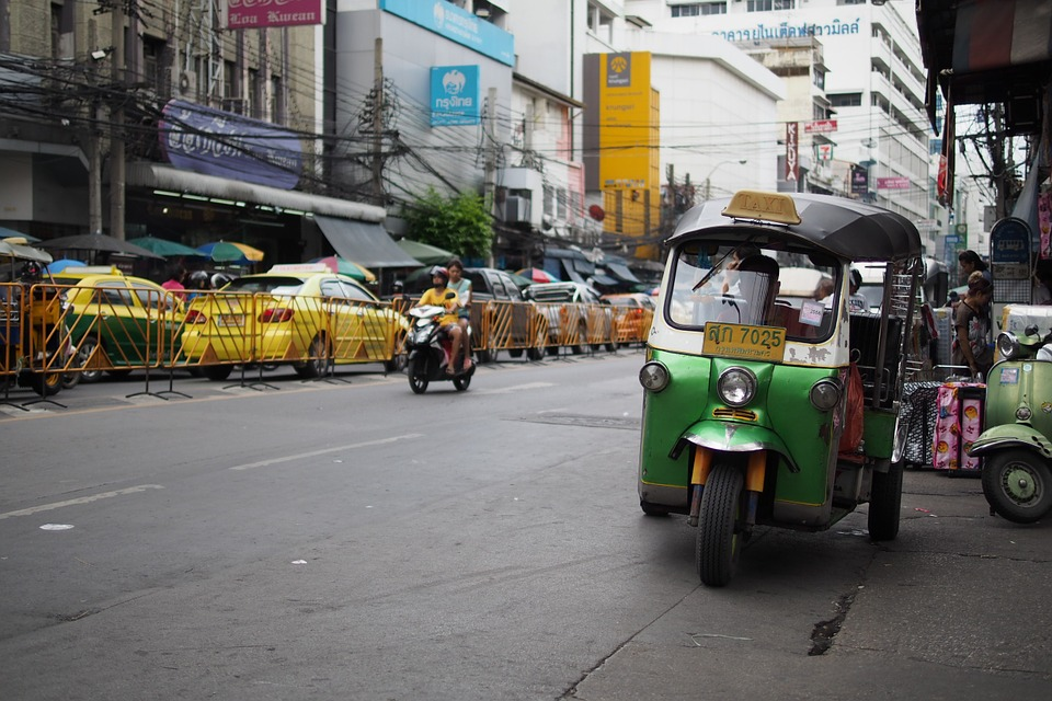 Tuk tuk on a street in Bangkok