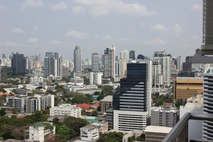The skyline of Bangkok