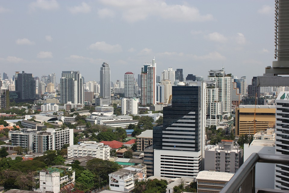 The skyline of Bangkok
