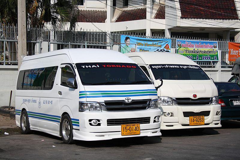 Toyota Commuter vans in Ayutthaya