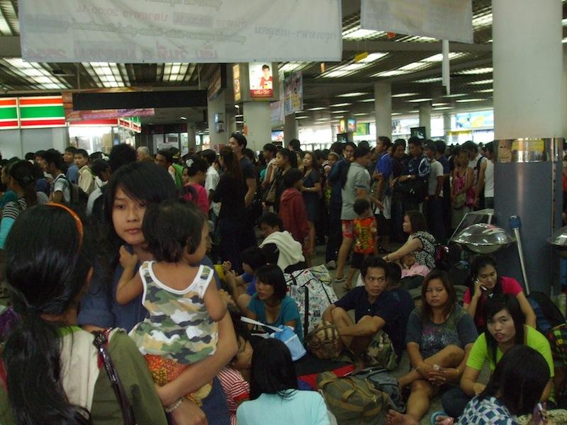 Morchit Bus Terminal in Bangkok
