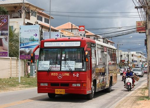 Mercedes-Benz city bus in Pattaya, Chonburi