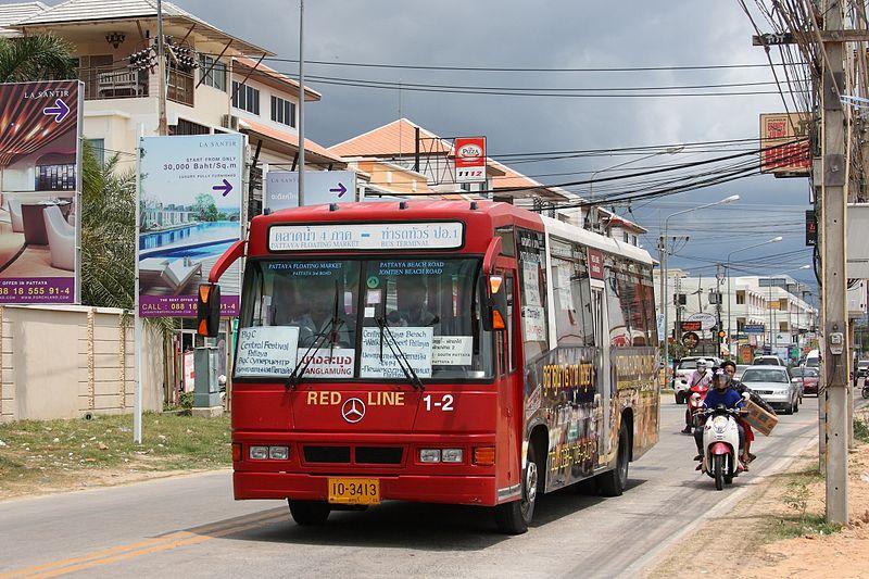 Mercedes-Benz city bus in Pattaya, Chonburi