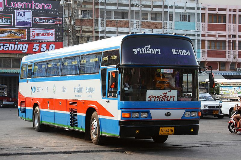 Intercity bus in Rayong