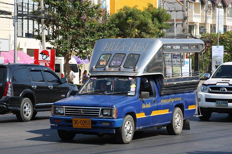Mitsubishi L200 baht bus in Hua Hin