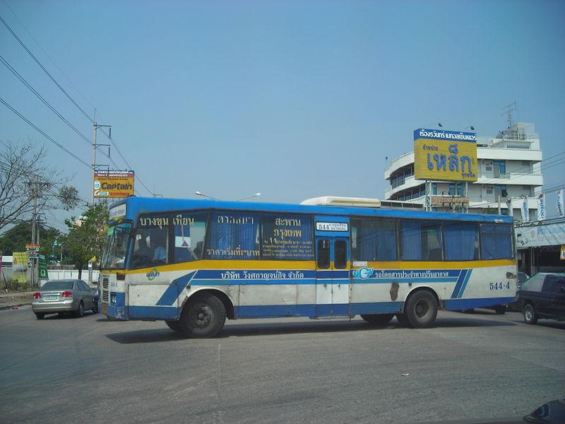 Jamtang bus line 544 in Samut Prakan