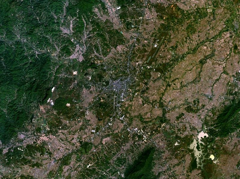 Chiang Rai satellite view