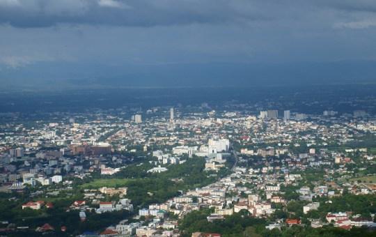 Chiang Mai city aerial view