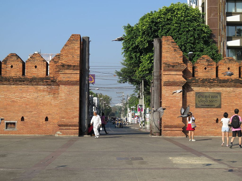 The eastern gate of Chiang Mai in the walled city center